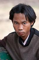 Myanmar, Burma, Shan State, Kalaw.  Young Burmese Man.