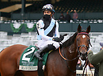 Octover 18, 2020 : #2 Blame Debbie and jockey Manuel Franco win the Rood and Riddle Dowager S. Grade 3 $125,000 for trainer Graham Motion at Keeneland Racecourse in Lexington, KY on October 18, 2020.  Candice Chavez/ESW/CSM