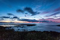 Sunset at Shark's Cove, North Shore, O'ahu.