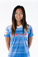 nChicago, IL, USA - Saturday, August 12, 2017: Players for the Chicago Red Stars participate in a photo shoot prior to the start of the National Women's Soccer League season.