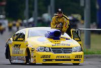 Jun. 17, 2012; Bristol, TN, USA: NHRA pro stock driver Jeg Coughlin during the Thunder Valley Nationals at Bristol Dragway. Mandatory Credit: Mark J. Rebilas-