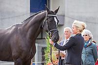 NZL-Jonelle Price (CLOUD DANCER) CCI2*YH-7YO: FIRST HORSE INSPECTION: 2014 FRA-Mondial du Lion: Championnats du Monde (Wednesday 15 October) CREDIT: Libby Law COPYRIGHT: LIBBY LAW PHOTOGRAPHY - NZL