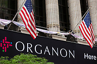 NEW YORK , NY - JUNE 02: Exterior view of the NYES and Wall st as new company Organon start trading next thursday in New york on June 02 2021. <br /> Organon look to expand to provide treatments for other conditions unique to women, About 80% of the new company's revenues will come from outside the U.S (Photo by Kena Betancur/VIEWpress)