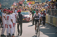 Egan Bernal Gomez (COL/SKY) rolling in at the finish<br /> <br /> Stage 10: Annecy > Le Grand-Bornand (159km)<br /> <br /> 105th Tour de France 2018<br /> ©kramon