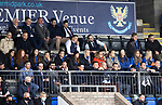St Johnstone v Dundee…02.10.21  McDiarmid Park.    SPFL<br />Members of the St Johnstone ladies team pictured in the stans for today's game<br />Picture by Graeme Hart.<br />Copyright Perthshire Picture Agency<br />Tel: 01738 623350  Mobile: 07990 594431