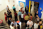 Guests mingle at an art benefit and auction at the Glassell School of Art Friday May 07,2010.  (Dave Rossman Photo)