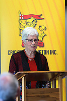 Trish McKelvey. Cricket Wellington membership badge presentations in the Long Room at the Basin Reserve in Wellington, New Zealand on Saturday, 14 November 2020. Photo: Dave Lintott / lintottphoto.co.nz