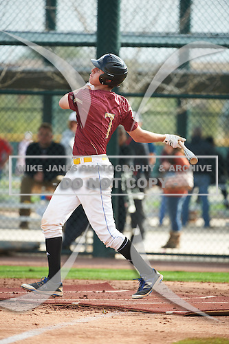 Robby Martin (7) of Jefferson High School in Tampa, Florida during the Under Armour All-American Pre-Season Tournament presented by Baseball Factory on January 14, 2017 at Sloan Park in Mesa, Arizona.  (Art Foxall/Mike Janes Photography)
