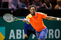 Februari 13, 2015, Netherlands, Rotterdam, Ahoy, ABN AMRO World Tennis Tournament, Gael Monfils (FRA)<br /> Photo: Tennisimages/Henk Koster