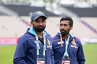 Mohammad Shami (l) of India during India vs New Zealand, ICC World Test Championship Final Cricket at The Hampshire Bowl on 18th June 2021