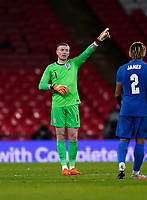 Goalkeeper Jordan Pickford (Everton) of England during the UEFA Nations League match played behind closed doors due to the current government Covid-19 rules within sports venues between England and Denmark at Wembley Stadium, London, England on 14 October 2020. Photo by Andy Rowland.