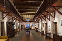 France, Haute-Savoie (74), Talloires: Hôtel-Restaurant: L'Abbaye de Talloires,  La grande gallerie// France, Haute Savoie, Talloires:  Hôtel-Restaurant: L'Abbaye de Talloires, The great gallery