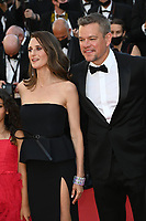 CANNES, FRANCE. July 8, 2021: Camille Cottin & Matt Damon at the Stillwater Premiere at the 74th Festival de Cannes.<br /> Picture: Paul Smith / Featureflash