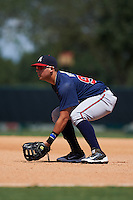 Atlanta Braves Juan Yepez (92) during an instructional league game against the Toronto Blue Jays on September 30, 2015 at the ESPN Wide World of Sports Complex in Orlando, Florida.  (Mike Janes/Four Seam Images)