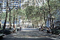 New York City: Bryant Park--behind N.Y. Public Library. Present design 1934.