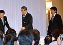Osaka Mayor Toru Hashimoto and Shintaro Ishihara Speak at the Press Conference for General Election