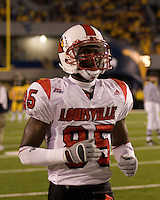 08 November 2007: Louisville wide receiver Harry Douglas..The West Virginia Mountaineers defeated the Louisville Cardinals 38-31 on November 08, 2007 at Mountaineer Field, Morgantown, West Virginia. .