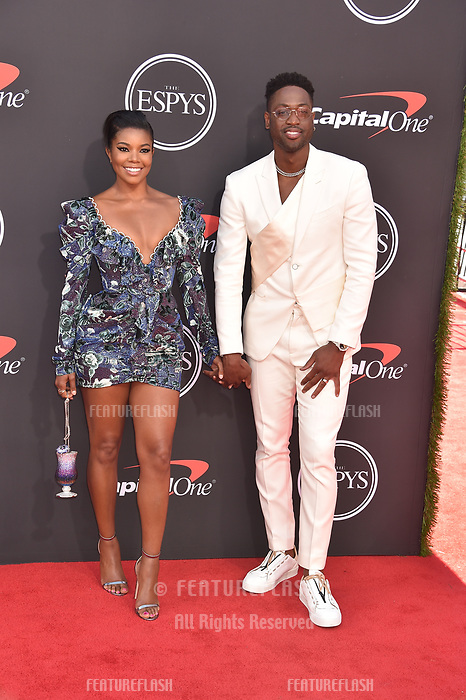 LOS ANGELES, USA. July 10, 2019: Gabrielle Union & Dwyane Wade at the 2019 ESPY Awards at the Microsoft Theatre LA Live.<br /> Picture: Paul Smith/Featureflash