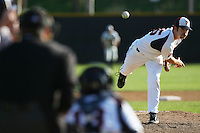 March 6 2009: Nathan Humphries of the Pepperdine Waves in action against the Evansville Purple Aces at Eddy D. Field Stadium in Malibu,CA.  Photo by Larry Goren/Four Seam Images