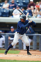 Cedar Rapids Kernels outfielder Edgar Corcino (36) at bat during a game against the West Michigan Whitecaps on June 7, 2015 at Fifth Third Ballpark in Comstock Park, Michigan.  West Michigan defeated Cedar Rapids 6-2.  (Mike Janes/Four Seam Images)