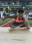 Tianna Bartoletta of the USA competes in the Women's Long Jump on the opening day of the Prefontaine Classic at Hayward Field in Eugene, Oregon, USA, 29 MAY 2015.<br /> Bartoletta won the event with a mark of 7.11m. (EPA Photo by Steve Dykes)
