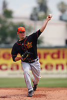 May 26 2008:  Zachary Phillips of the Bakersfield Blaze during game against the Inland Empire 66'ers at Arrowhead Credit Union Park in San Bernardino,CA.  Photo by Larry Goren/Four Seam Images