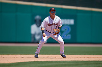 Rochester Red Wings third baseman Brian Schales (13) during an International League game against the Scranton/Wilkes-Barre RailRiders on June 25, 2019 at Frontier Field in Rochester, New York.  Rochester defeated Scranton 10-9.  (Mike Janes/Four Seam Images)