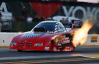 Jul. 26, 2013; Sonoma, CA, USA: NHRA funny car driver Gary Densham during qualifying for the Sonoma Nationals at Sonoma Raceway. Mandatory Credit: Mark J. Rebilas-