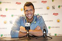 10-02-13, Tennis, Rotterdam,Press conference with Jo-Winfried Tsonga