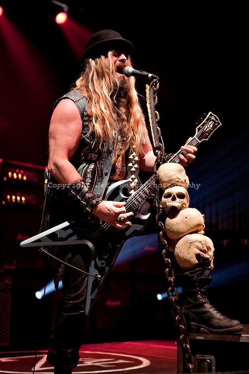 Zakk Wylde of Black Label Society live in concert at Verizon Theatre on October 30, 2010 in Grand Prairie, TX.