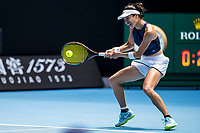 16th February 2021, Melbourne, Victoria, Australia; Su-Wei Hsieh of Chinese Taipei returns the ball during the quarterfinals of the 2021 Australian Open on February 16 2021, at Melbourne Park in Melbourne, Australia.