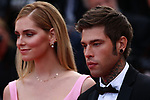 Cannes Film Festival 2018 - 71st edition - Day 6 - May 13 in Cannes, on May 13, 2018; Fedez and Chiara Ferragni