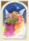 Interlitho-Emilia, HOLY FAMILIES, HEILIGE FAMILIE, SAGRADA FAMÍLIA, paintings+++++,2 angels,bible,KL5464,#xr#