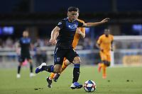 SAN JOSE, CA - JUNE 26: Cristian Espinoza #10 during a Major League Soccer (MLS) match between the San Jose Earthquakes and the Houston Dynamo on June 26, 2019 at Avaya Stadium in San Jose, California.