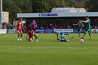 Donovan Wilson of Sutton United is fouled byTom Dallison-Lisbon of Crawley Town during Crawley Town vs Sutton United, Sky Bet EFL League 2 Football at The People's Pension Stadium on 16th October 2021