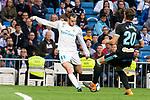 Real Madrid Gareth Bale and Celta de Vigo Sergi Gomez during La Liga match between Real Madrid and Celta de Vigo at Santiago Bernabeu Stadium in Madrid, Spain. May 12, 2018. (ALTERPHOTOS/Borja B.Hojas)