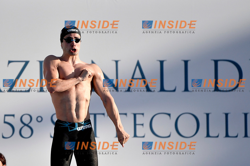Arno Kamminga of Netherlands prepares to compete in the <br /> men 100m breaststroke during the 58th Sette Colli Trophy International Swimming Championships at Foro Italico in Rome, June 25th, 2021. Arno Kamminga placed second .<br /> Photo Andrea Staccioli/Insidefoto/Deepbluemedia