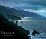 Storm Clouds, Coastline, J.F. Burns State Park, Big Sur, Monterey County, California