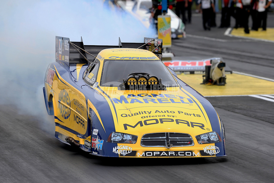 May 11, 2013; Commerce, GA, USA: NHRA funny car driver Matt Hagan during the Southern Nationals at Atlanta Dragway. Mandatory Credit: Mark J. Rebilas-
