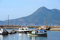Hafen von Buggeru, Provinz Carbonia-Iglesias, Südwst Sardinien, Italien