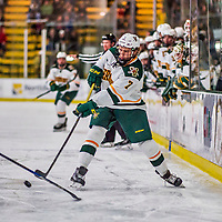 21 November 2017: University of Vermont Catamount forward Liam Coughlin in second period action against the University of Connecticut Huskies at Gutterson Fieldhouse in Burlington, Vermont. The Huskies defeated the Catamounts 4-1 in Hockey East play. Mandatory Credit: Ed Wolfstein Photo *** RAW (NEF) Image File Available ***