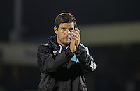 Darrell Clarke manager of Bristol Rovers during the Johnstone's Paint Trophy match between Bristol Rovers and Wycombe Wanderers at the Memorial Stadium, Bristol, England on 6 October 2015. Photo by Andy Rowland.