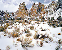 Winter at Smith Rock State Park in Deschutes County, Oregon