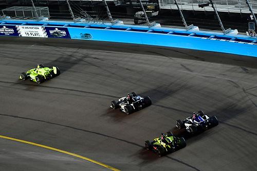 Graham Rahal, Rahal Letterman Lanigan Racing Honda, Takuma Sato, Rahal Letterman Lanigan Racing Honda, Sébastien Bourdais, Dale Coyne Racing with Vasser-Sullivan Honda