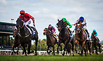 LEXINGTON, KY - OCTOBER 07: Suedois #3, ridden by Danny Tudhope outlasts Ballagh Rocks #6 with Jose Lezcano and Heart to Heart  #10 with Flroent Geroux up to win the Shadwell Turf Mile Stakes at Keeneland Race Course on October 07, 2017 in Lexington, Kentucky. (Photo by Alex Evers/Eclipse Sportswire/Getty Images)