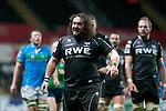 Heineken Cup - Ospreys v Treviso - Liberty Stadium - Swansea - UK - 12th October 2012 :                .Adam Jones of the Ospreys.