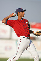 August 16 2009: Ebert Rosario of the Lancaster JetHawks during game against the Bakersfield Blaze at Clear Channel Stadium in Lancaster,CA.  Photo by Larry Goren/Four Seam Images