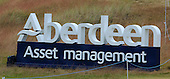 Aberdeen Asset Management branding during round three of the 2016 Aberdeen Asset Management Scottish Open played at Castle Stuart Golf Golf Links from 7th to 10th July 2016: Picture Stuart Adams, www.golftourimages.com: 09/07/2016