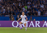 PARIS,  - JUNE 28: Abby Dahlkemper #7 controls the ball during a game between France and USWNT at Parc des Princes on June 28, 2019 in Paris, France.