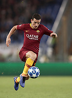 Football Soccer: UEFA Champions League  AS Roma vs PFC CSKA Mosca Stadio Olimpico Rome, Italy, October 23, 2018. <br /> Roma's Alessandro Florenzi in action during the Uefa Champions League football soccer match between AS Roma and PFC CSKA Mosca at Rome's Olympic stadium, October 23, 2018.<br /> UPDATE IMAGES PRESS/Isabella Bonotto